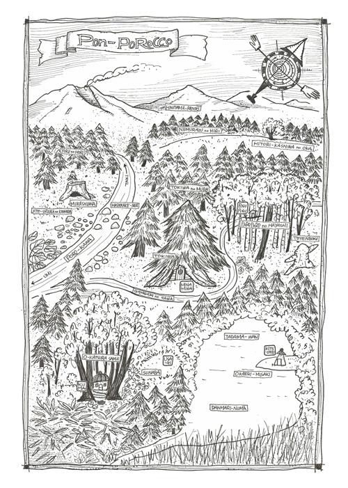 ポンポロッコの森マップ